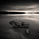 Beach, Rocks and Water III by Anders Naesset