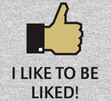 I Like To Be Liked! (Thumb Up) Baby Tee