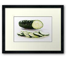 Cucumber Framed Print