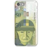 50 Swiss Francs Note Bill - Front Side iPhone Case/Skin