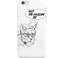 Cynical Cat- Joy Division iPhone Case/Skin
