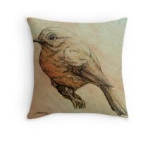 Red Robin Throw Pillow