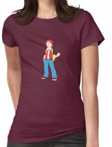 Trainer Red Minimalist Womens Fitted T-Shirt