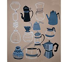 Coffee Pots Photographic Print
