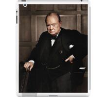 Winston Chruchill Fabulous Color Portrait WW2 Battle of Britain iPad Case/Skin
