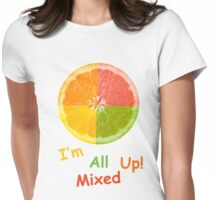 Citrus Fruit Womens Fitted T-Shirt