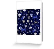Dark Blue Snowflakes Greeting Card