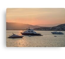 Cannes Festival Cruisers Sunset Canvas Print