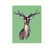 Watercolour Deer 2 Art Print