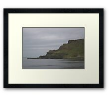 Looking out from the Gian't Causeway Framed Print