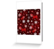 Dark Red Snowflakes Greeting Card