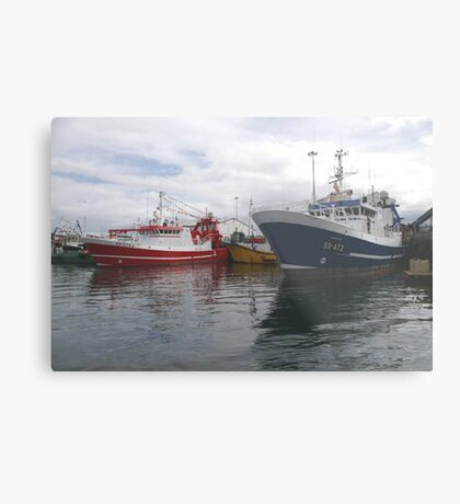 Fishing Boats in Donegal Metal Print
