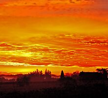 Sunrise over Oregon by Deri Dority