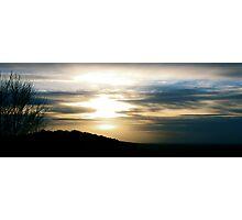 Melting sun Photographic Print