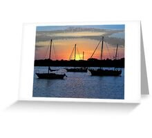 sunrise at St. Augustine Greeting Card