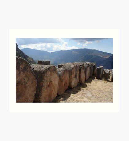 Foundations at Delphi Art Print