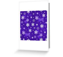 Light Purple Snowflakes Greeting Card
