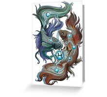 Pisces Star Sign Greeting Card