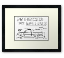 Top Gear's Ambitious but Rubbish Toybota blueprints  Framed Print