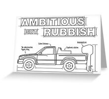Ambitious but Rubbish Toybota blueprints  Greeting Card