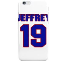 National football player Neal Jeffrey jersey 19 iPhone Case/Skin
