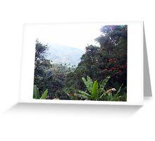 Tropical Mountain Greeting Card