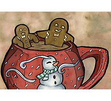 Relaxing Gingerbread Photographic Print