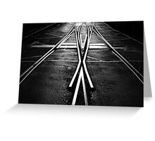 0 Along the right track HP Greeting Card