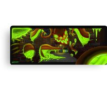 Green Blooded Changeling (alley) Canvas Print
