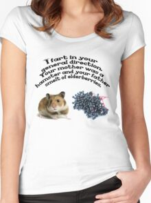 Your mother was a hamster and your father smelt of elderberries. Women's Fitted Scoop T-Shirt