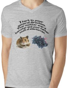 Your mother was a hamster and your father smelt of elderberries. Mens V-Neck T-Shirt