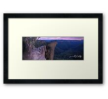 Cling on to the one you love! Framed Print