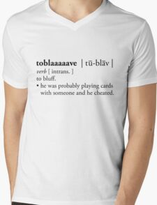 toblaaaaave - defined Mens V-Neck T-Shirt
