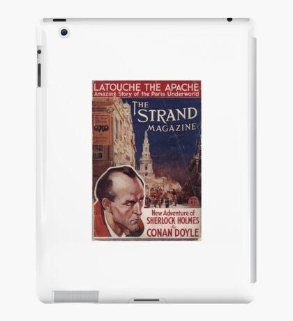Sherlock Holmes  - The Strand Magazine Cover - Vintage Print iPad Case/Skin