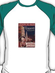 Sherlock Holmes  - The Strand Magazine Cover - Vintage Print T-Shirt