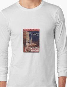 Sherlock Holmes  - The Strand Magazine Cover - Vintage Print Long Sleeve T-Shirt