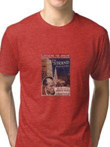 Sherlock Holmes  - The Strand Magazine Cover - Vintage Print Tri-blend T-Shirt