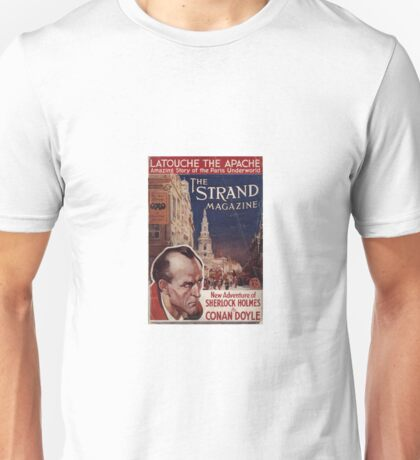 Sherlock Holmes  - The Strand Magazine Cover - Vintage Print Unisex T-Shirt