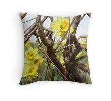 Daffodils in Cornwall Throw Pillow