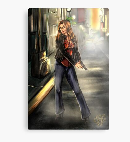 Kate Beckett / Nikki Heat Metal Print