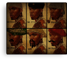 foreign exchange rate 50 cent Canvas Print