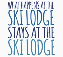 Cute 'What Happens at the Ski Lodge Stays at the Lake House' T-Shirt and Accessories by Albany Retro