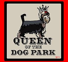 Yorkshire Terrier Queen of the Dog Park by BarkleyandCo