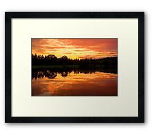 Sunset at the Hideaway Framed Print