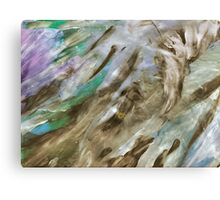 Blue and Green Silvery Streked Canvas Print