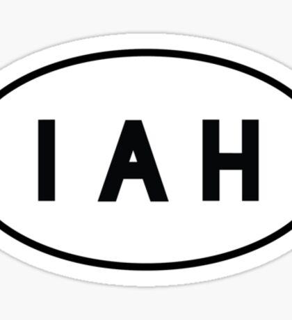 Euro Sticker - IAH - George Bush Intercontinental Airport Sticker
