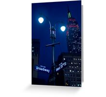 Lights on Broadway Greeting Card