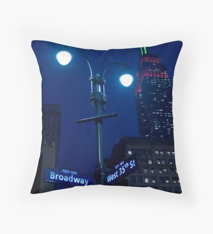 Lights on Broadway Throw Pillow