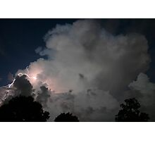 Evening Thunderstorm Photographic Print