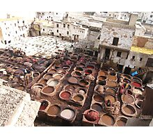 Moroccan Tannery Photographic Print